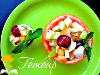Плодова салата с фреш от грейпфрут
