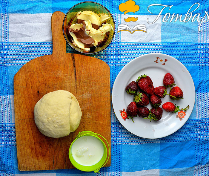 Готвар, рецепта - Пица с шоколад и ягоди