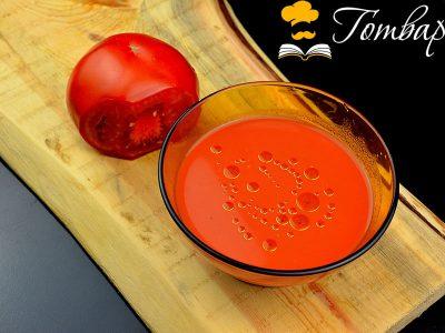 Студена супа Гаспачо с босилек