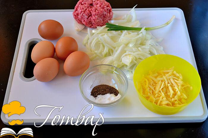 Готвар, рецепта - Фритата с кайма и карамелизиран лук