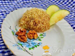 Готвар, рецепта, рецепти, готвене, продукти - Ябълка с орехи и мед