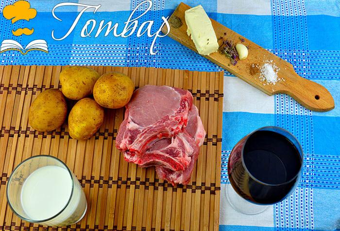 Готвар, рецепта, рецепти, готвене, продукти - Свински котлети с картофено пюре