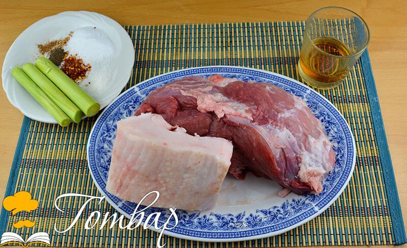 продукти за домашен суджук свински