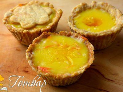 Тарталети с портокалов крем и сос