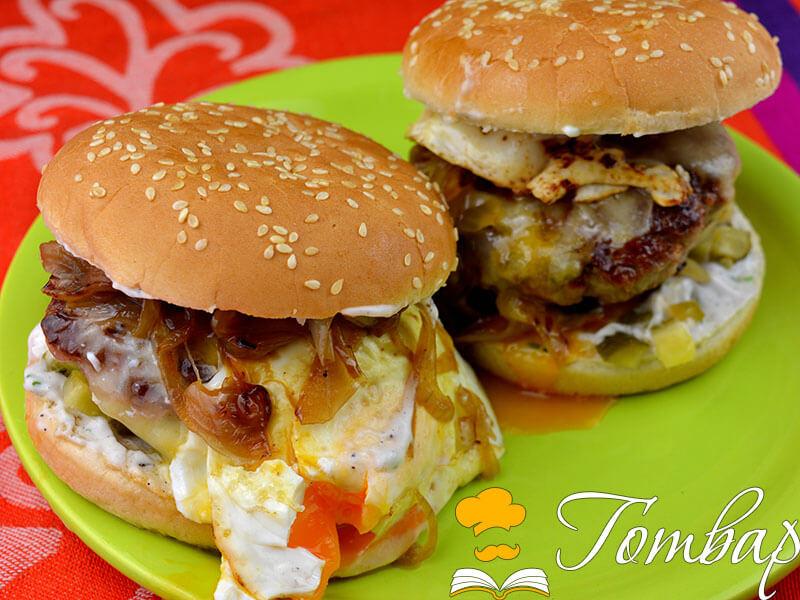 Сочен телешки хамбургер с домашна майонеза