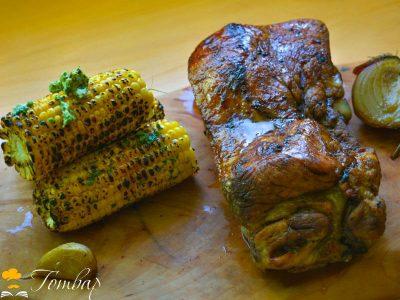 Свински ребра с печена царевица и ароматно масло